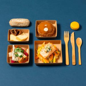photo de plateaux repas