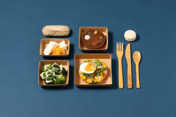 photo de plateau repas vegetarien