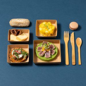 photo de plateau repas du jour